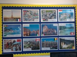 MFL Display Countries and places where Spanish, French, German and Italian are spoken