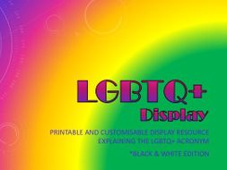 LGBTQ+ Key Terms Display