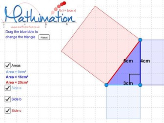 Pythagoras' Theorem Visualisation