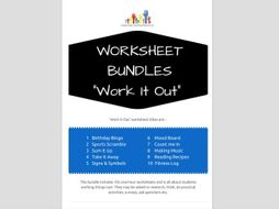 SPECIAL EDUCATION x10 WORK IT OUT worksheets - literacy, numeracy ...