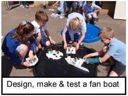 Make a Fan Boat: Electricity Materials Forces KS2