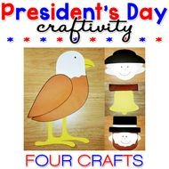 President's Day Paper Craft Craftivity