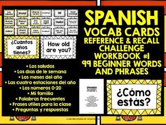 SPANISH VOCABULARY CARDS #1