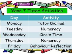 First Day Back/ Start of Term Activities