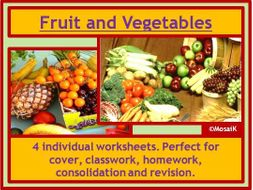 Food Technology fruit veg worksheets