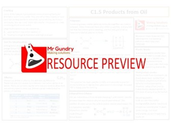 AQA C1.5 Products from Oil Revision Sheet