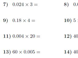 multiplying decimals and whole numbers worksheet with solutions by  multiplying decimals and whole numbers worksheet with solutions