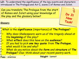 R&J Revision Prologue & Act 1, scene 1