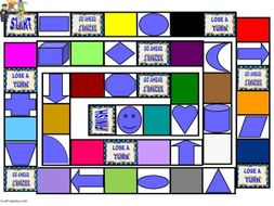 Colors and Shapes Animated Board Game