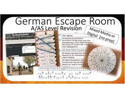 German Escape Room for  A Level revision
