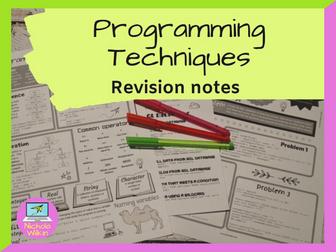 Programming Techniques Revision