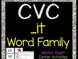 CVC -it Word Family Packet - Short i