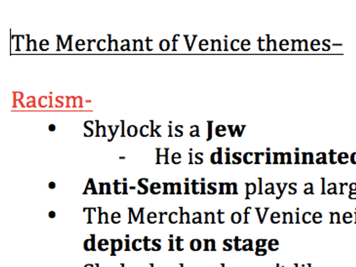 Merchant of venice theme