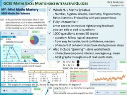 GCSE 9-1 Maths 1000 questions/answers