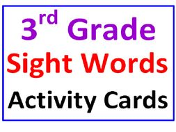 Third Grade Sight Words Activity Cards COLOR and PRINT