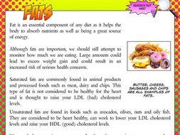 NEW GCSE PE - Fats research fact sheet