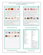 Healthy Lifestyle-Nutrition Reading-Conversation-Writing Worksheets