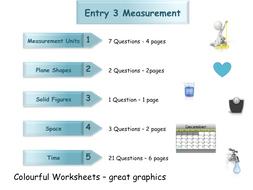 Measures Workbook - Worksheet Booklet - Functional Skills E3