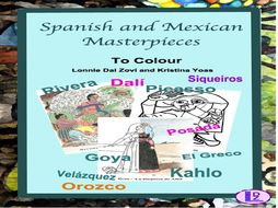 Spanish and Mexican Art Masterpieces to Colour