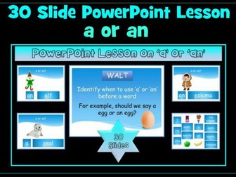 'a' or 'an'  PowerPoint Lesson