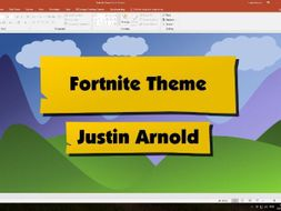 fortnite powerpoint template by jsarnold teaching resources tes
