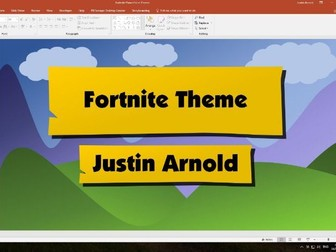 Fortnite PowerPoint Template