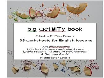 Big ESL Activity Book  95 worksheets - Intermediate / Level 1