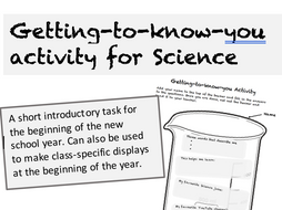 Getting-to-know-you activity for Science by LCass