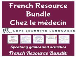 GCSE FRENCH: Chez le Médecin - Vocabulary Speaking Activities BUNDLE