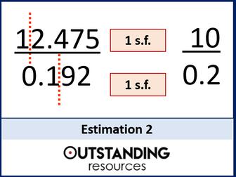 Estimation 2 - Problems involving Fractions and Decimals (+ worksheet)