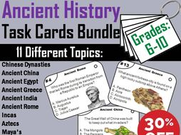 Ancient History Task Cards Bundle