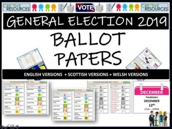 General Election 2019 Ballot Papers