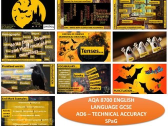 AQA 8700 English Language - Halloween SPaG
