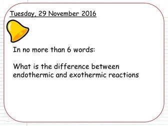 New AQA Chemistry Topic 5 pt1