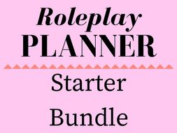 Starter Bundle of Role Play Storyline Planners