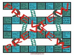 Subject versus Object Pronouns Chutes and Ladders Board Game