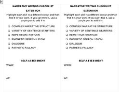 Self-Assessment Sheets