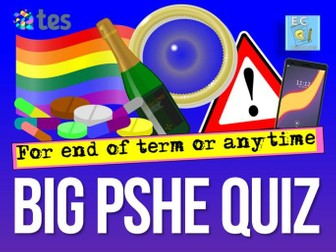 PSHE / Relationships and Sex Education ( RSE ) Quiz