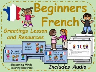 French Greetings lesson and resources