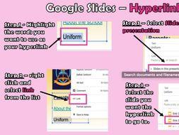Google Slides/Presentations - Transitoins, Hyperlinks & Animations
