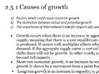 Edexcel Economics AS-level Unit 2.5 Economic growth: all the revision notes you need to know