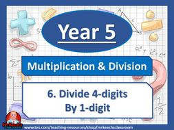 Year 5 – Multiplication and Division – Divide 4-digits by 1-digit - White Rose Maths