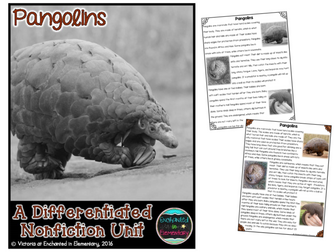 Differentiated Nonfiction Unit: Pangolins