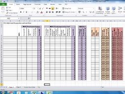 AQA Food Prep and Nutrition NEA 1 and 2 Tracker with mock entry marks and final prediction