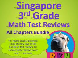 Singapore 3rd Grade Math Test Review Bundle