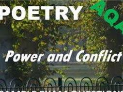 AQA CONFLICT AND POWER ANTHOLOGY POETRY MATCHING PAIRS ACTIVITY GAME KS4