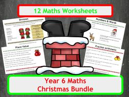 Christmas Maths Worksheets - Year 6