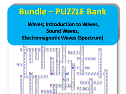 Bundle – PUZZLE Bank – Waves; Introduction to Waves, Sound Waves, Electromagnetic Waves (Electromagnetic Spectrum)