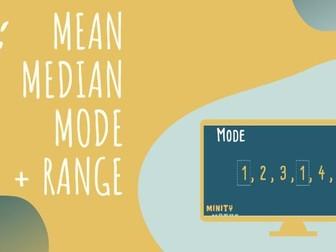 Mean, Median, Mode and Range: Statistics Video