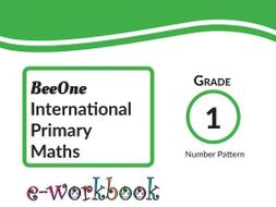 Grade 1 Math Number Pattern Workbook of 33 pages from BeeOne Books